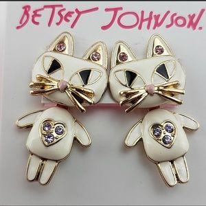 NWT BETSEY JOHNSON CAT EARRINGS